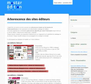 Arborescence des sites éditeurs - Master Edition MLV 2011-12-21 14-21-35